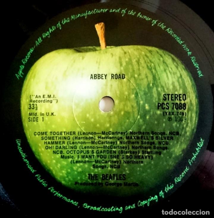 Discos de vinilo: The Beatles - Abbey Road (Psichedelic) 1ª Edicion UK 1969 con Errata en Portada y Label, Muy Raro... - Foto 4 - 50305164