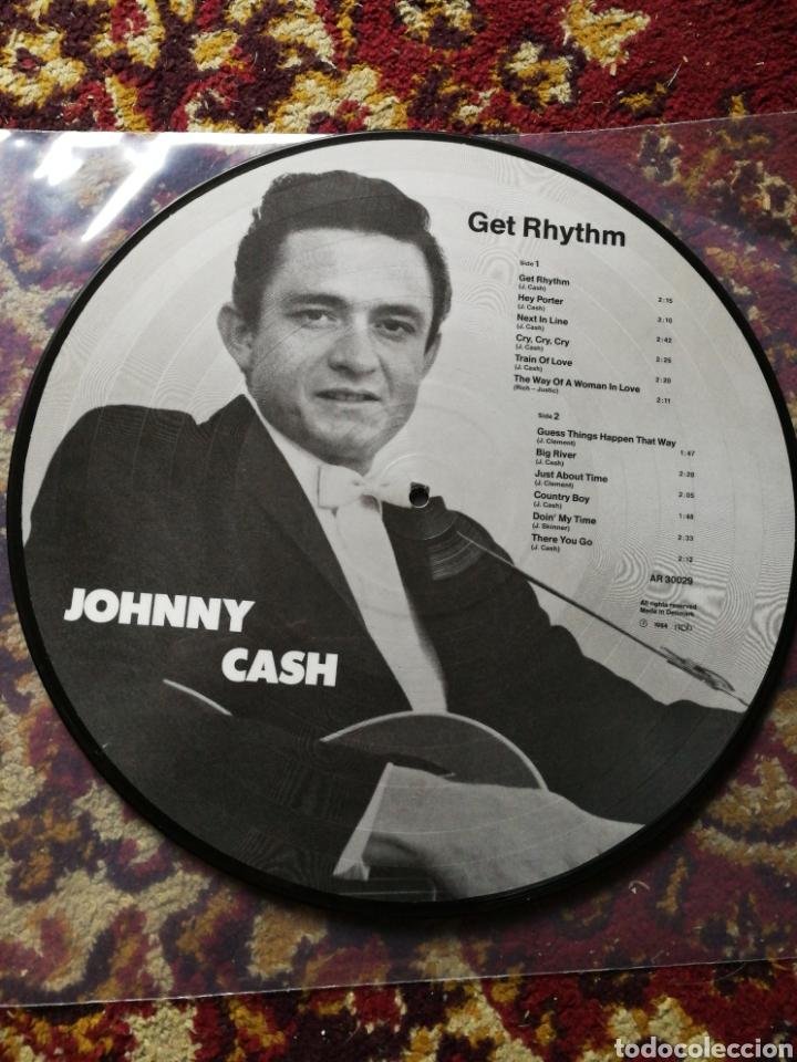 LP JOHNNY CASH- GET RHYTHM, ED.FOTOGRAF, DENMARK 1984. (Música - Discos - LP Vinilo - Country y Folk)