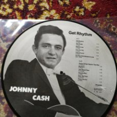 Discos de vinilo: LP JOHNNY CASH- GET RHYTHM, ED.FOTOGRAF, DENMARK 1984.. Lote 130353536