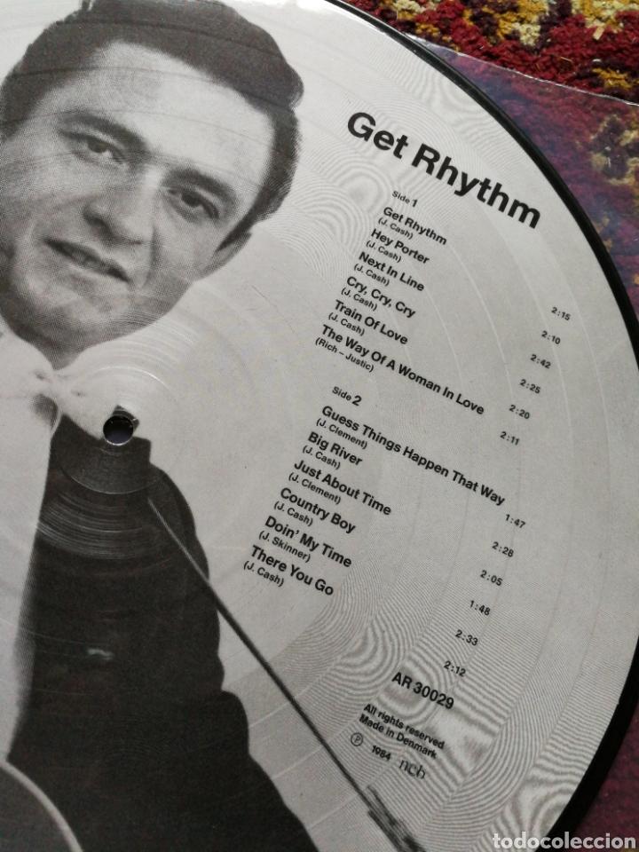 Discos de vinilo: LP JOHNNY CASH- GET RHYTHM, ED.FOTOGRAF, DENMARK 1984. - Foto 3 - 130353536