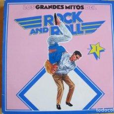 Discos de vinilo: LOS GRANDES MITOS DEL ROCK AND ROLL VOL. 1 - VARIOS (SPAIN, ABC RECORDS 1977). Lote 130356062