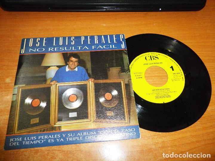 JOSE LUIS PERALES NO RESULTA FACIL SINGLE VINILO PROMO 1987 CONTIENE 1 TEMA (Música - Discos - Singles Vinilo - Cantautores Españoles)