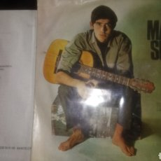 Discos de vinilo: DISCO SINGLE DE JOAN MANUEL SERRAT CON LA LETRA ORIGINAL. 1966.. Lote 130381498