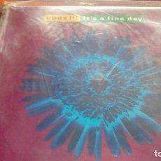 Discos de vinilo: OPUS III / IT´S A FINE DAY - EVOLUTION RUSH 1992. Lote 130395818