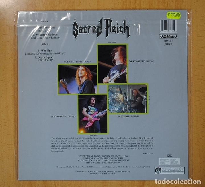 Discos de vinilo: SACRED REICH - ALIVE AT THE DYNAMO - LP - Foto 2 - 130409226