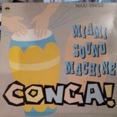 Discos de vinilo: MIAMI SOUND MACHINE CONGA. Lote 130429942