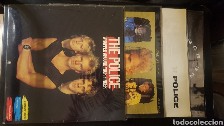 MAXIS - THE POLICE / STING - WRAPPED AROUND YOUR FINGER - SYNCHRONICITY II - KING OF PAIN (Música - Discos de Vinilo - Maxi Singles - Pop - Rock - New Wave Extranjero de los 80)