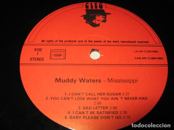 Discos de vinilo: LP MUDDY WATERS MISSISSIPPI - CLEO HOLLAND - Foto 3 - 130440214