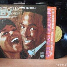 Discos de vinilo: MARVIN GAYE & TAMMI TERRELL EASY TAMLA MOTOWN. LP ORIGINAL USA 1969 PDELUXE. Lote 130440638