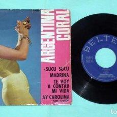 Discos de vinilo: SINGLE - ARGENTINA CORAL - SUCU SUCU. Lote 130442626