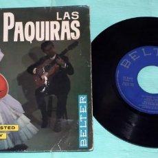 Discos de vinilo: SINGLE - LAS PAQUIRAS - MEDIO CARIÑO. Lote 130443054