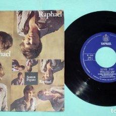 Discos de vinilo: SINGLE - RAPHAEL - SOMOS - PAYASO. Lote 130443138