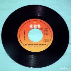 Discos de vinilo: SINGLE - VICTOR MANUEL - BAILARINA - NO HEMOS INVENTADO NADA. Lote 130444042