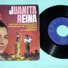 Discos de vinilo: SINGLE JUANITA REINA - COPLAS DE MAGDALENA. Lote 130444130