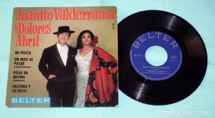 SINGLE - JUANITO VALDERRAMA Y DOLORES ABRIL - MI PESETA (Música - Discos - Singles Vinilo - Otros estilos)