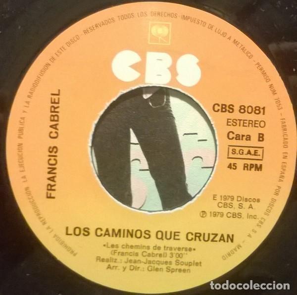 Discos de vinilo: Francis Cabrel ?– La Quiero A Morir (España, 1980) - Foto 4 - 130454402
