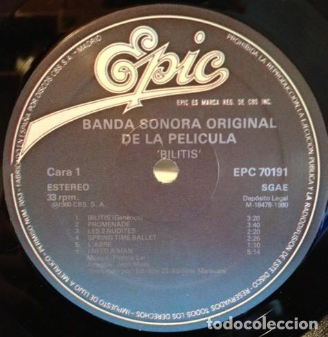 Discos de vinilo: Francis Lai ?– Bilitis (Bande Originale Du Film) [España, 1980] - Foto 2 - 130454490