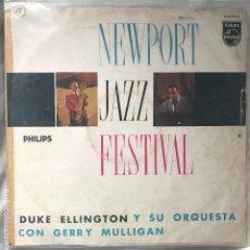 Discos de vinilo: DUKE ELLINGTON Y SU ORQUESTA_CON GERRY MULLIGAN ?–NEWPORT JAZZ FESTIVAL_ 1959 IMPECABLE. Lote 130454710