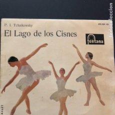 Discos de vinilo: EP EL LAGO DE LOS CISNES TCHAIKOVSKY.FONTANA.ORQUESTA SINFÓNICAS VIENA. Lote 130497788