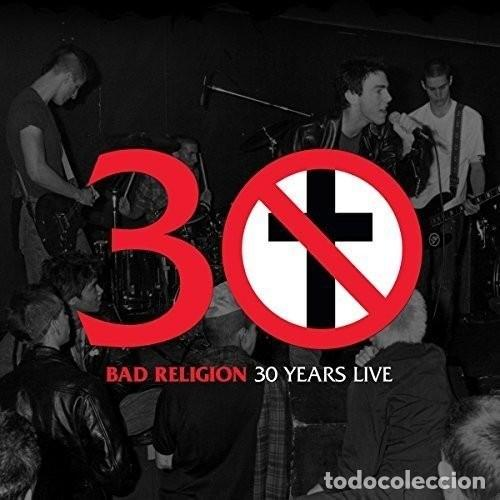 LP BAD RELIGION 30 YEARS LIVE HARDCORE PUNK VINILO, usado segunda mano