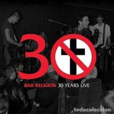 Discos de vinilo: LP BAD RELIGION 30 YEARS LIVE HARDCORE PUNK VINILO. Lote 130500722