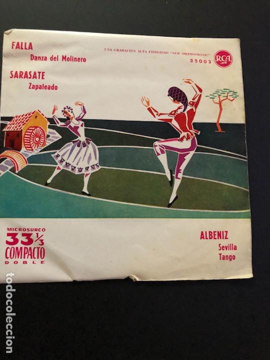 EP 33 COMPACTO DOBLE RCA.FALLA SARASATE ALBENIZ (Música - Discos de Vinilo - EPs - Clásica, Ópera, Zarzuela y Marchas)