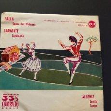 Discos de vinilo: EP 33 COMPACTO DOBLE RCA.FALLA SARASATE ALBENIZ. Lote 130502255