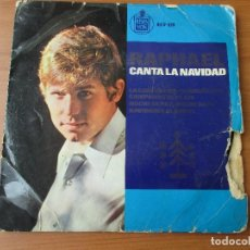 Discos de vinilo: RAPHAEL CANTA LA NAVIDAD LA CANCIÓN DEL TAMBORILERO +3 HISPAVOX 1965. Lote 130507274