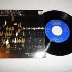 Discos de vinilo: LIRICA ESPAÑOLA - ORQ. SINFONICA ESPAÑOLA - LA LEYENDA DEL BESO +2. Lote 130516466