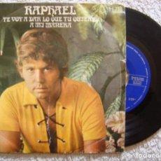 Discos de vinilo: SINGLE VINILO - RAPHAEL ?– TE VOY A DAR LO QUE TÚ QUIERES / A MI MANERA - 1971 - HISPAVOX ?– H-718. Lote 130521634