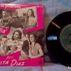 Discos de vinilo: MARUJITA DIAZ - EXITOS DE LA PELICULA 'POLVORILLA' - EP HISPAVOX HH 1711 DEL AÑO 1957 - INMACULADO. Lote 130523342