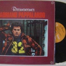 Discos de vinilo: ADRIANO PAPPALARDO - RECOMENCEMOS - LP PROMOCIONAL 1979 - RCA. Lote 130551294