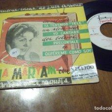 Discos de vinilo: LINA MARYAM CON LUIS ARAQUE Y SUS RAQUETS: YA TENEMOS TELE + 3 (VARIETY 1960). Lote 130563926