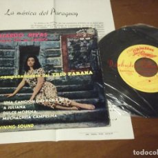 Discos de vinilo: EDUARDO RIVAS UNA CANCION QUE HABLE DE TI +3 -CON TRIO PARANA- / SONIDO SHINNING SOUND -ESPÀÑA 1964-. Lote 130564882