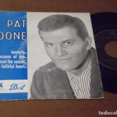 Discos de vinilo: PAT BOONE ?– BEYOND THE SUNSET / MY FAITHFUL HEART / TENDERLY / BECAUSE OF YOU / FRANCIA- . Lote 130567546