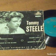 Discos de vinilo: TOMMY STEELE Y THE STEELMEN- TEENAGE PARTY + 3-DECCA ?– EDGE 70724 -1957-. Lote 130568906