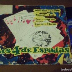 Discos de vinilo: LOS 4 DE ESPADAS -FESTIVAL DO RITMO + 3 -HISPAVOX-ALVORADA- ESPAÑA 1963-. Lote 130570562