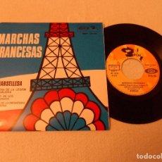 Discos de vinilo: MARCHAS FRANCESAS - LA MARSELLESA / MARCHA DE LA LEGIÓN EXTRANJERA.... Lote 130592606