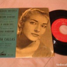 Discos de vinilo: MARIA CALLAS EP 45 RPM MADAMA BUTTERFLY LA VOZ DE SU AMO ESPAÑA 1959. Lote 130611138