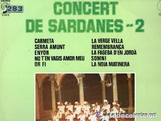 COBLA LA PRICIPAL DE LA BISBAL - CONCERT DE SARDANES-2 - LP DISCOPHON 1976 (Música - Discos - LP Vinilo - Orquestas)