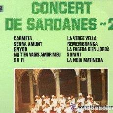 Discos de vinilo: COBLA LA PRICIPAL DE LA BISBAL - CONCERT DE SARDANES-2 - LP DISCOPHON 1976. Lote 130632330