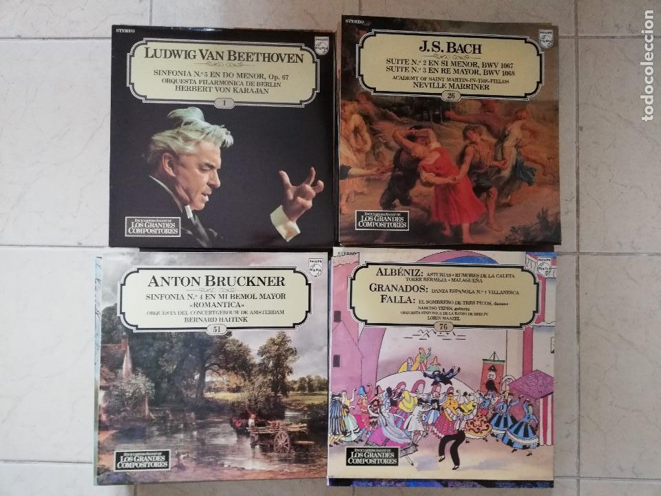 COLECCION COMPLETA (100 DISCOS) DE LOS GRANDES COMPOSITORES (Música - Discos - Singles Vinilo - Clásica, Ópera, Zarzuela y Marchas)