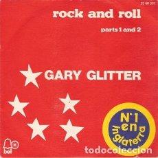 Discos de vinilo: GARY GLITTER ?– ROCK AND ROLL PARTS 1 AND 2 (ESPAÑA, 1972). Lote 130641606