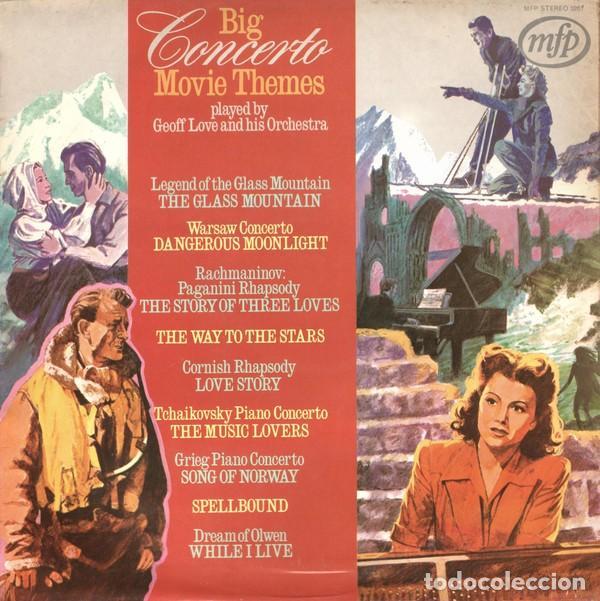 GEOFF LOVE AND HIS ORCHESTRA ?– BIG CONCERTO MOVIE THEMES (UK, 1972) (Música - Discos - LP Vinilo - Bandas Sonoras y Música de Actores )