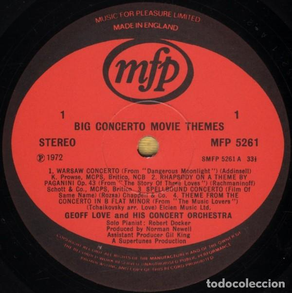 Discos de vinilo: Geoff Love And His Orchestra ?– Big Concerto Movie Themes (UK, 1972) - Foto 2 - 130641770