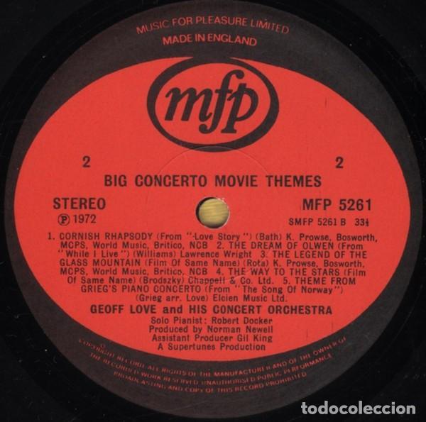 Discos de vinilo: Geoff Love And His Orchestra ?– Big Concerto Movie Themes (UK, 1972) - Foto 3 - 130641770
