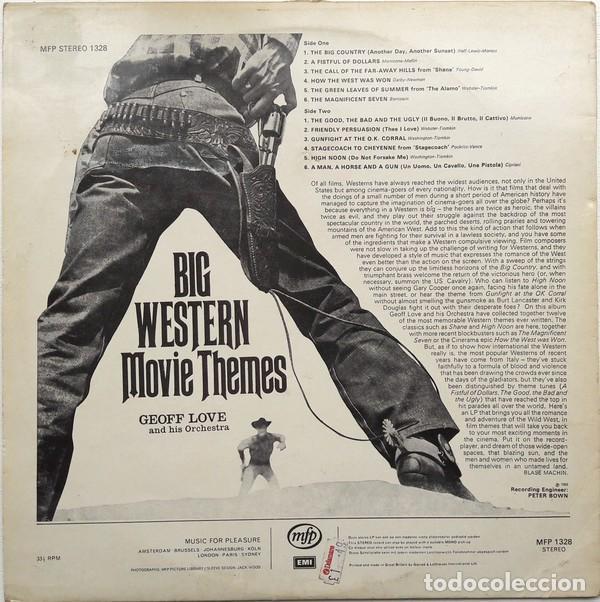 Discos de vinilo: Geoff Love And His Orchestra ?– Big Western Movie Themes (UK, 1969) - Foto 2 - 130641814