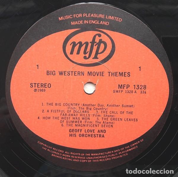 Discos de vinilo: Geoff Love And His Orchestra ?– Big Western Movie Themes (UK, 1969) - Foto 3 - 130641814
