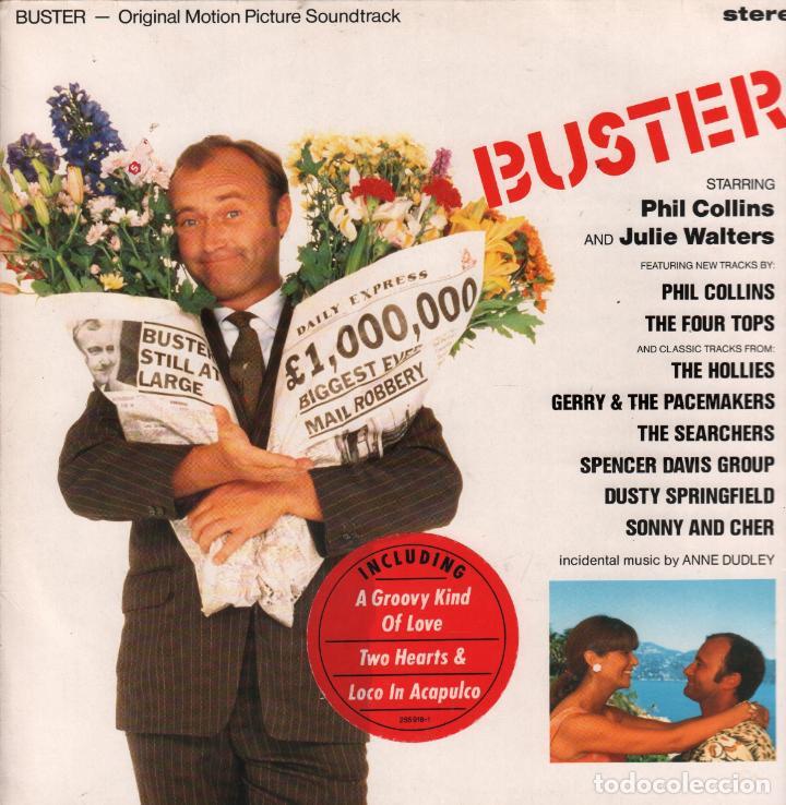 BUSTER - SOUNDTRACK - PHIL COLLINS - LP WEA DE 1988 RF-6137 (Música - Discos - LP Vinilo - Bandas Sonoras y Música de Actores )