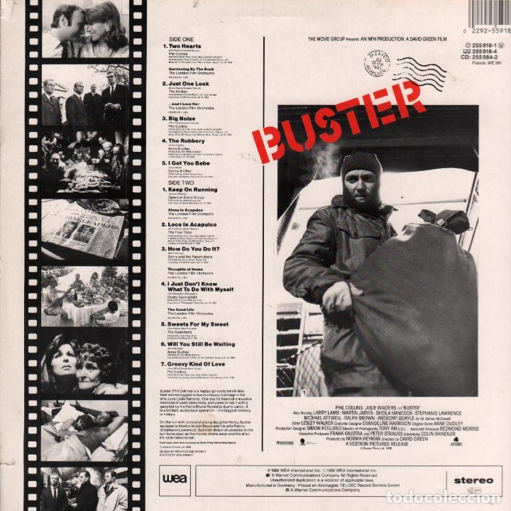 Discos de vinilo: BUSTER - SOUNDTRACK - PHIL COLLINS - LP WEA DE 1988 RF-6137 - Foto 2 - 130648682